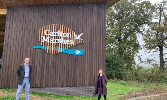 Peter Aldous visits the new Carlton Marshes Visitor Centre