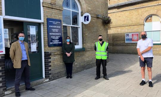 Peter Aldous visits the new Tourist Information Office